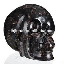 180 mm large skull furnishing articles plum flower natural jade ore DiaoKeJian adult skull