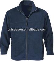 Men plain navy fleece jackets