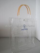 Low price clear vinyl tote bag