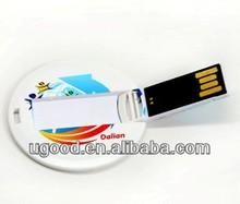 wholesale usb webkey card round-shaped usb 2.0 Full Corlor Printing Business Card,high speed usb card,usb flash card