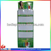 display holder for Shower Gel/Body Wash/Pos 4 layers corrugated floor shampoo display