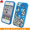 New arrival finger pattern silicone cellphone case for iphone 4