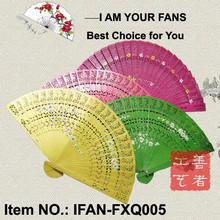 Fancy ladies wood fold up hand fan