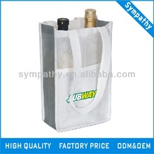 Compartment Tote/non woven grocery bag/non woven wine bag