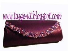 BEADED Handbags Purple Clutch Bags (CODE 236)