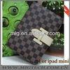 for ipad mini case with stand, plaid case for ipad mini