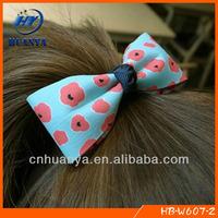 custom printed ribbon bow bungee hair tie