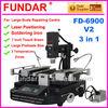 New FUNDAR FD-6900 V.2 Laser Position touch screen 3 temperature zones welder hot air IR preheater rework