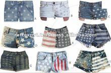 American Flag printed BEach style womens hot shorts