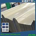 Métal transparent de zinc courber ondulé toiture tôle d'acier