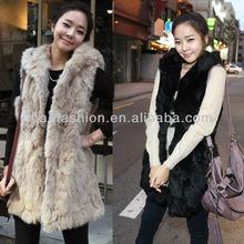 2013 autumn winter women fashion imitation rabbit fur with a hooded fur vest coat long vest