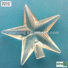 transparent plastic craft star,holiday decoration,