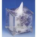 Antique boîte de tissu acrylique mode/nobel boîte avec motif