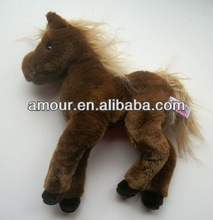 Plush Brown Pony look real Cuddle Toys Floppy Legs Horse cheap animal stuff from china