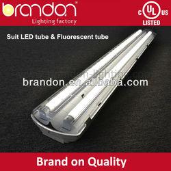 UL T8 fluorescent light fixture plastic cover