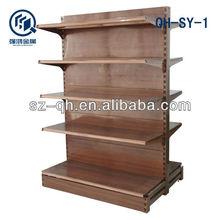 hot sale calasssical &popular double-side wood folding display shelf