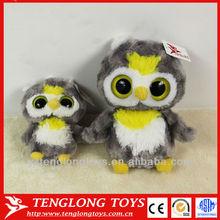 hot sale cute big eyes mini owl plush owl toy