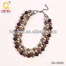 2013 three-row necklace resin jewelery