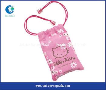 pink custom velvet gift bag for package