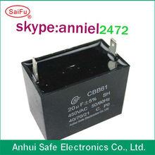Celling fan ac motor capacitor CBB61 1uf 2uf 3uf 4uf 5uf 450V