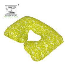 pretty fashion trendy child neck pillow in yellow ivy print