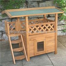Indoor Wooden Cat Kitten Pet House / Outdoor Garden Dog Kennel Lodge