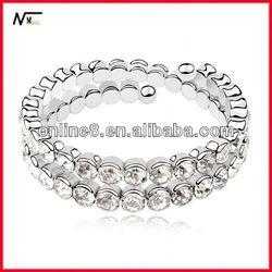 good factroy Crystal Beaded Bangle alloy bracelet,custom bangle bible verse bracelet