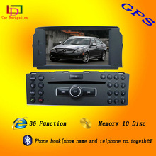 mercedes benz c300 car dvd navigation system with built-in gps ,bluetooth ,tv ,cd player