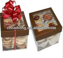 Plastic cookie box packing box cake box