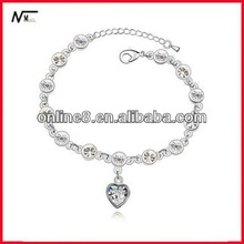 best price Crystal Beaded bracelet,alloy bangle,custom bangle bracelet flash memory