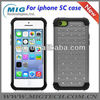 2 in 1 diamonds square Silicon & PC case for iphone 5c, for iphone 5c case