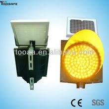 LED Solar Powered Flashing caution light