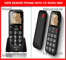 dual sim big keyboard mobile phone for elderly with desktop charger