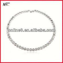 best Crystal Beaded Bangle alloy bracelet,custom bangle leather thong for bracelets