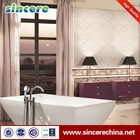 Kitchen and bathroom textured white glossy ceramic wall tile