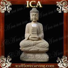 Antique marble carved buddha