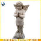 Marmer Putih Man Malaikat Patung Tombstone Aksesoris