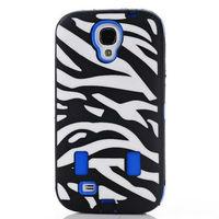 Hard pc+silicone Hybrid Zebra Cases for Samsung Galaxy S4 I9500