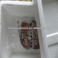 raw mackerel and freshwater fish ball