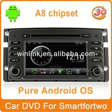 New S150 Android A8 Chipset car gps for Smart For Two support 3g wifi 1080p