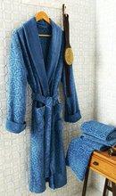 100% Cotton printed polar fleece women bathrobe
