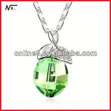 nice service necklace New Model Crystal Charm Necklace,popular pendant pendant craft