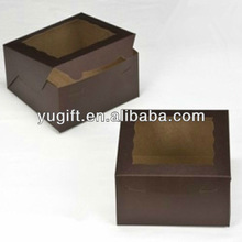Best Selling Brown Colour Chocolate/Cupcake Box with PVC Window