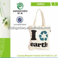 100% ecological natural cotton drawsring bag