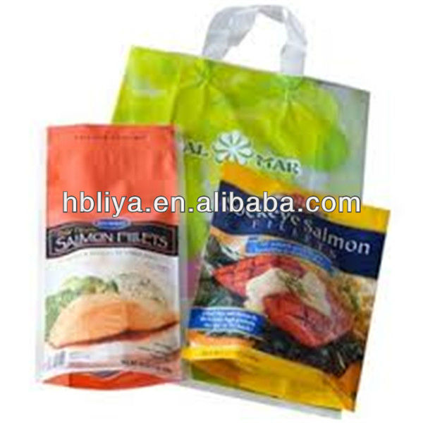 Shopping custom heavy duty resealable plastic bag