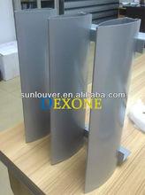 metal aluminium louver blade vertical pattern for outdoor shutter