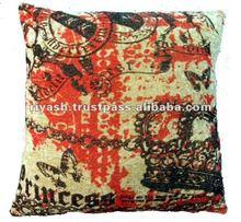 Digital Print Velvet Fabric Cushion Cover - 45 Cm. Sq.