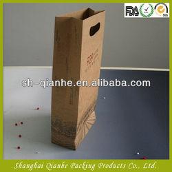 die cut handle paper wine bag in China