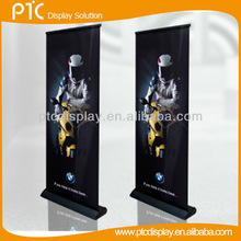 Teardrop roll up banner stand for advertisement without foot, luxury roll up display