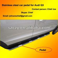 Aluminum+ABS car side pedal for Audi Q3 2010-2012